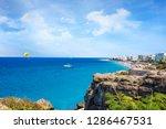 parasailing in aegean sea in... | Shutterstock . vector #1286467531