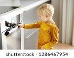 charming boy waiting preparing... | Shutterstock . vector #1286467954