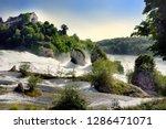 rhine falls in switzerland.... | Shutterstock . vector #1286471071