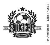 soccer logo design template.... | Shutterstock .eps vector #1286471587