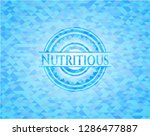 nutritious sky blue emblem with ... | Shutterstock .eps vector #1286477887