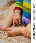 a messy or tactile play session ... | Shutterstock . vector #1286487124