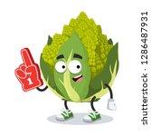 Cartoon Green Roman Broccoli...