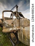 very old ww2 vehicle left to...   Shutterstock . vector #1286488264