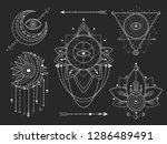 vector set of sacred geometric... | Shutterstock .eps vector #1286489491