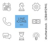 business related line icons set.... | Shutterstock . vector #1286492941