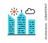 city building icon | Shutterstock . vector #1286492947