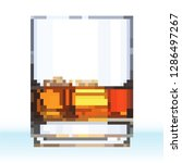 glass of scotch whiskey with... | Shutterstock .eps vector #1286497267
