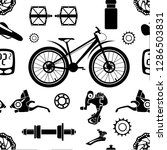 bicycles. seamless pattern of... | Shutterstock .eps vector #1286503831