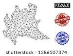 black mesh vector map of...   Shutterstock .eps vector #1286507374