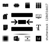 center  text icon. simple glyph ...