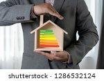 energy rating chart eco man... | Shutterstock . vector #1286532124