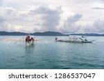 dec 23 2018 boat anchored at...   Shutterstock . vector #1286537047