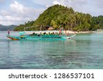dec 23 2018 bangka boat moving... | Shutterstock . vector #1286537101