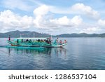 dec 23 2018 bangka boat moving... | Shutterstock . vector #1286537104