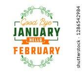 goodbye january hello february... | Shutterstock .eps vector #1286542984