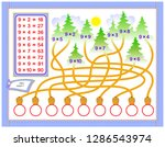 multiplication table by 9 for... | Shutterstock .eps vector #1286543974