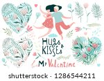 valentine clip art collection... | Shutterstock .eps vector #1286544211