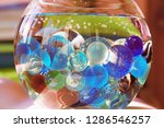 vase with colored balls in water   Shutterstock . vector #1286546257