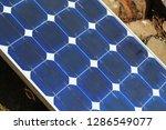 solar plate sitting at outdoor... | Shutterstock . vector #1286549077