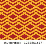 seamless red and gold vintage... | Shutterstock .eps vector #1286561617