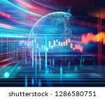 financial stock market graph on ... | Shutterstock . vector #1286580751
