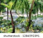 green nature garden and steam.   Shutterstock . vector #1286592391