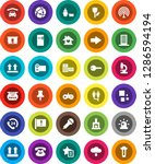 white solid icon set  attention ... | Shutterstock .eps vector #1286594194