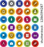 white solid icon set  graduate... | Shutterstock .eps vector #1286594287