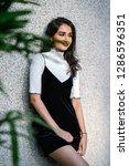 portrait of a young  elegant...   Shutterstock . vector #1286596351