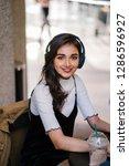 a beautiful indian asian woman...   Shutterstock . vector #1286596927