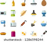 color flat icon set   poached... | Shutterstock .eps vector #1286598244
