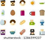 color flat icon set   sausage... | Shutterstock .eps vector #1286599237