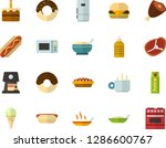 color flat icon set   hot tea... | Shutterstock .eps vector #1286600767
