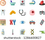 color flat icon set   write... | Shutterstock .eps vector #1286600827