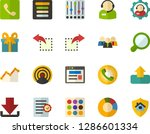 color flat icon set   site flat ... | Shutterstock .eps vector #1286601334