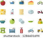 color flat icon set   mothers... | Shutterstock .eps vector #1286601694