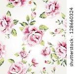 seamless flower pattern... | Shutterstock . vector #128660324