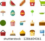 color flat icon set   easter... | Shutterstock .eps vector #1286604361