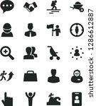 solid black vector icon set  ... | Shutterstock .eps vector #1286612887