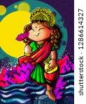 goddess laxmi indian cultural... | Shutterstock . vector #1286614327