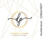 dp initial handwriting logo... | Shutterstock .eps vector #1286624827