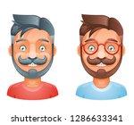geek hipster mustache vintage...   Shutterstock . vector #1286633341