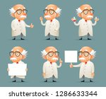 old scientist character icons... | Shutterstock . vector #1286633344