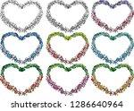 heart shape flower border vector   Shutterstock .eps vector #1286640964