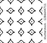black and white seamless ethnic ...   Shutterstock .eps vector #1286644711