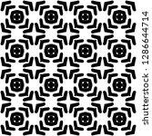 black and white seamless ethnic ...   Shutterstock .eps vector #1286644714