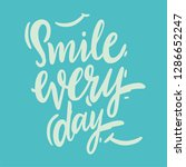 smile every day hand drawn... | Shutterstock .eps vector #1286652247
