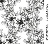 flower print. elegance seamless ...   Shutterstock . vector #1286658427