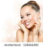 beauty girl. portrait of... | Shutterstock . vector #128666381